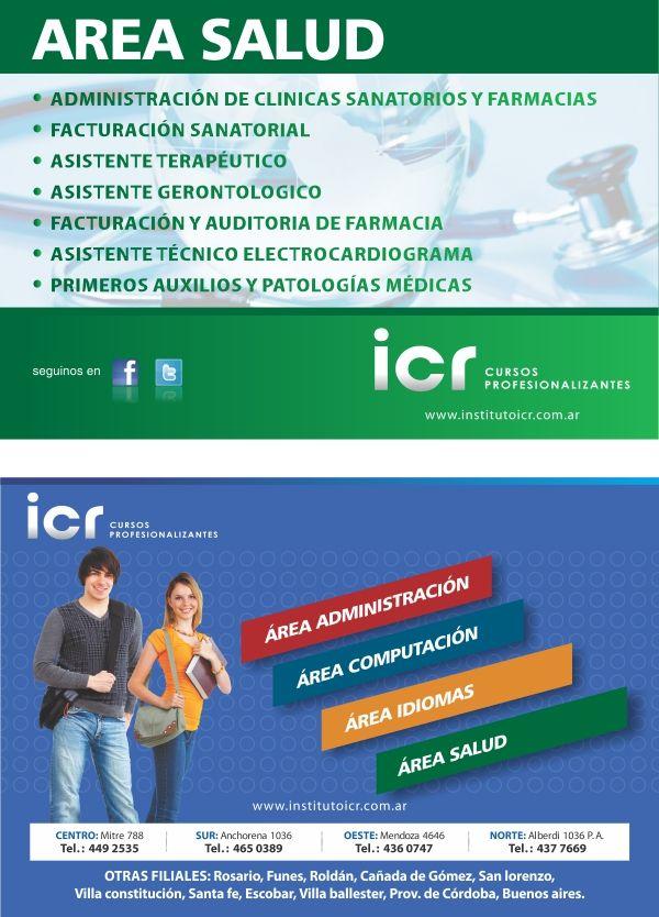 Folleto doble faz para ICR