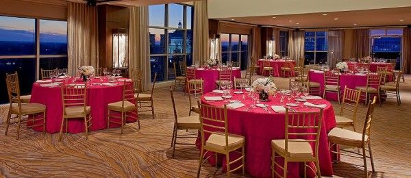Location of our Passion for PINK photo shoot, the Hyatt Regency Sacramento is pretty in pink!