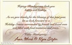 Thanksgiving Wishes Wording
