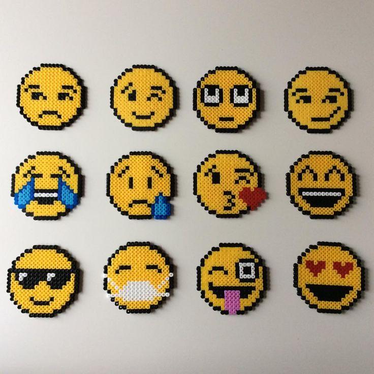 "39 Synes godt om, 3 kommentarer – Perler Beads (@_the_creative_girls_) på Instagram: ""#emoji #mood #smile #smileys #faces #creative #creativity #hama #hamabeads #perlerbeads #kiss…"""