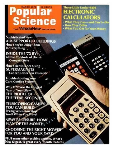 Front cover of Popular Science Magazine: March 1, 1973 Art Print