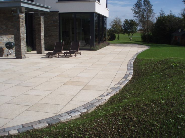 Yellow Granite Patios U0026 Paving Private Gardens | CED Ltd For All Your  Natural Stone