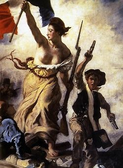 """tierradentro:  Detail from Delacroix's """"Liberty Leading the People""""."""