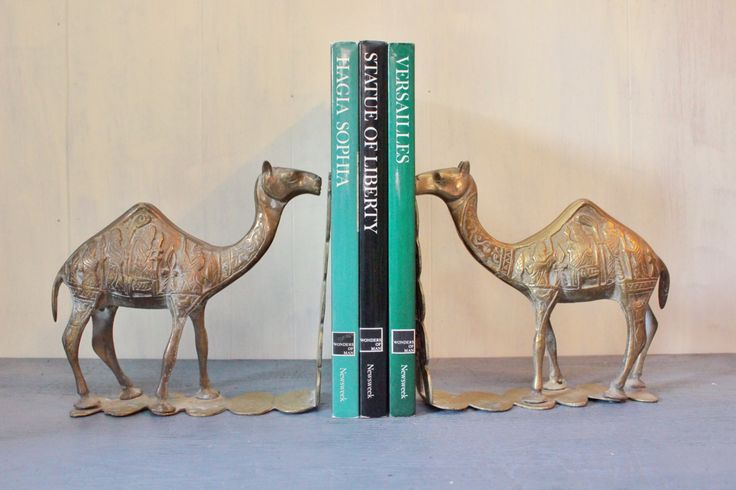 #vintage #brass bookends - large #camel #bookend set by ninedoorsvintage on Etsy #vintagebookends #brassbookends #homedecor #mediterranean #egyptian #midcentury #library #books #explore #vintagehome #boho #bohostyle #bohochic #bohohome #bohemian #interiors #interiorstyling