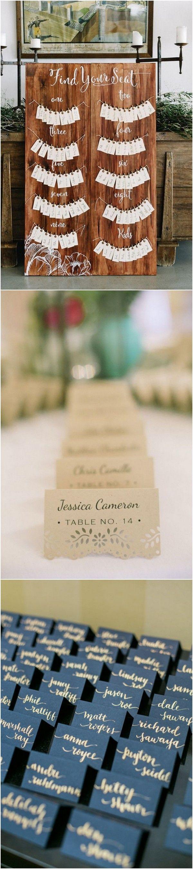 country rustic wedding escort card display ideas