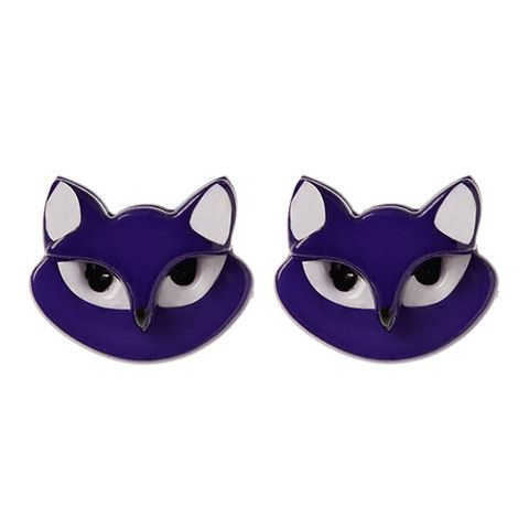 "Erstwilder Limited Edition Carla Cat Earrings. ""If only we could see the world through the eyes of a cat. How wonderful it would be to live like that."""