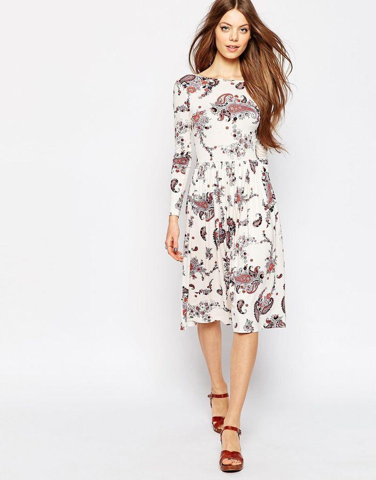 Image 1 ofASOS Midi Dress In Paisley Print