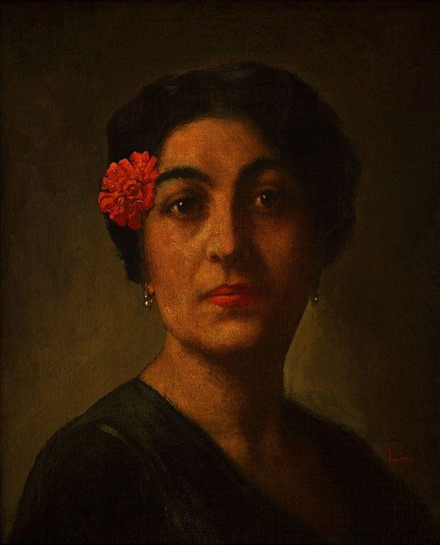 Autor: Pedro Lira   Título:Retrato de mujer  Técnica / Material: Óleo sobre tela