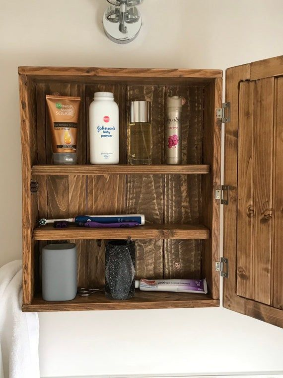 Cabinet With Mirror Wooden Wall Hung Bathroom Cabinet Solid Wood Rustic Timber Handmade Wall Cabi Wall Hung Bathroom Cabinet Wooden Walls Solid Wood Shelves