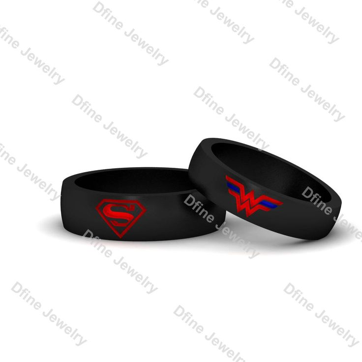 Superhero Ring Wonder Woman Superman 2Pc Wedding Band Ring Set Red Enamel Cosplay Jewelry His Her Promise Ring Set Matching Wedding Ring Set by dfinejewelry on Etsy https://www.etsy.com/listing/539482380/superhero-ring-wonder-woman-superman-2pc