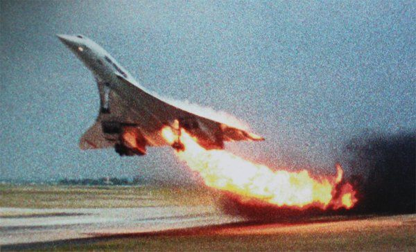 In-Flight Fires: Air France Flight 4590 (2000). Fuel tank puncture. Foreign object damage. Deaths 113 (all).
