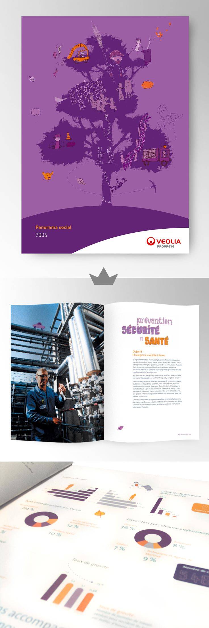 VEOLIA - Rapport annuel 2006  (Panorama social)