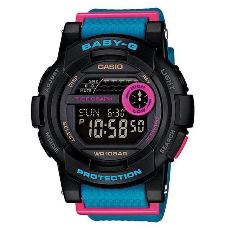 Casio Baby-G Ladies Watch BGD-180-2ER #Casio #BabyG #CasioWatch #Black #Blue #Pink #BabyGWindow #Watch