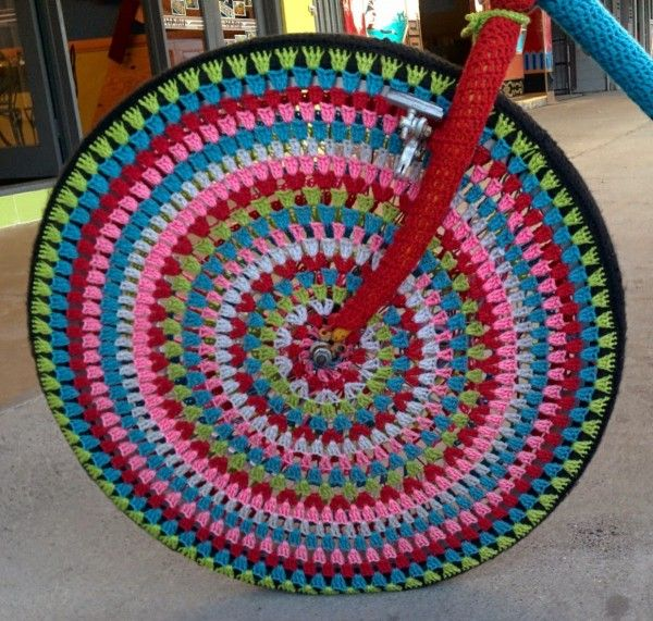 Yarnbombed bike spotted in Cairns by Forever in Fibre