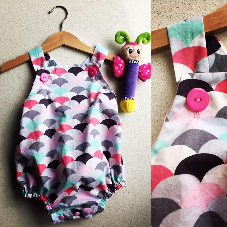 'Summer Fun' - Handmade baby rompers BEAR+MOO+DO