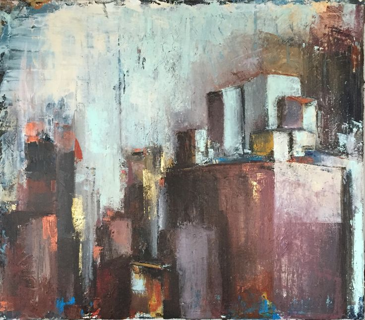 Purple haze - acrylics on canvas cm. 100x100 Painting by Gianluca Dal Bianco