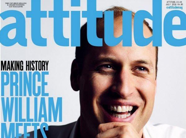 O πρίγκιπας Ουίλιαμ γράφει ιστορία στο εξώφυλλο του μεγαλύτερου γκέι περιοδικού