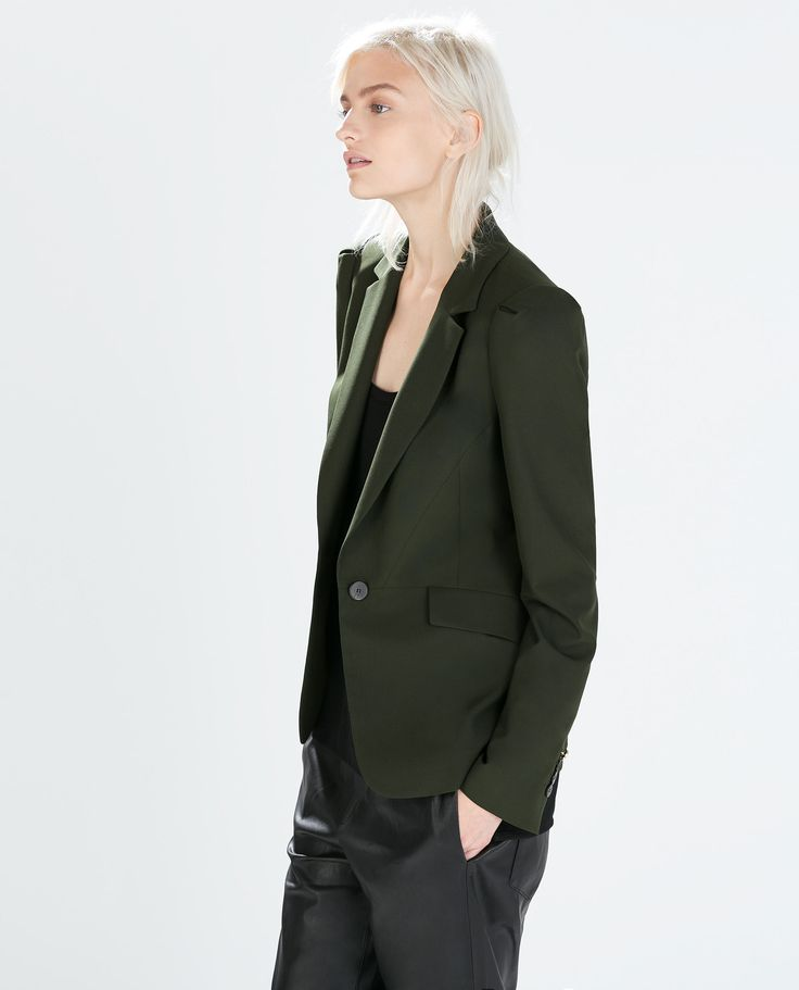 Image 1 of FITTED BLAZER WITH PLEATED SLEEVES from Zara