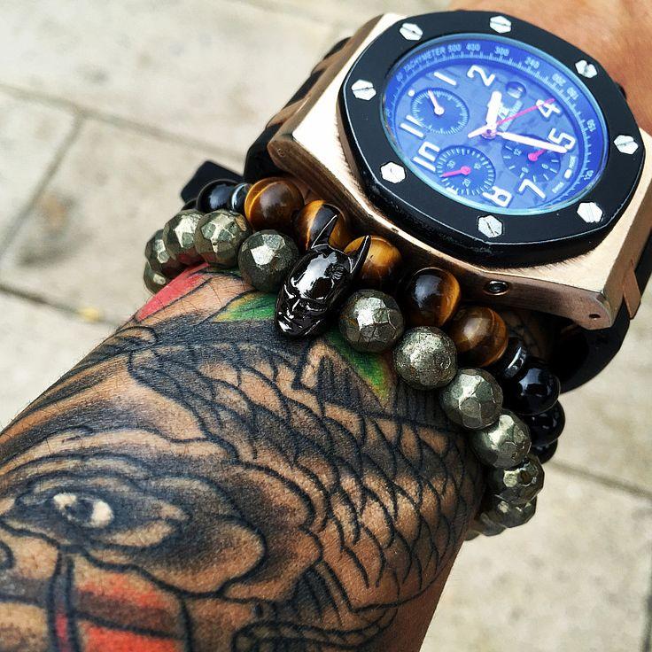Mcllroy beads bracelets with Batman Bracelet beads for man women hematite natural stone charms round beads diy Bracelets