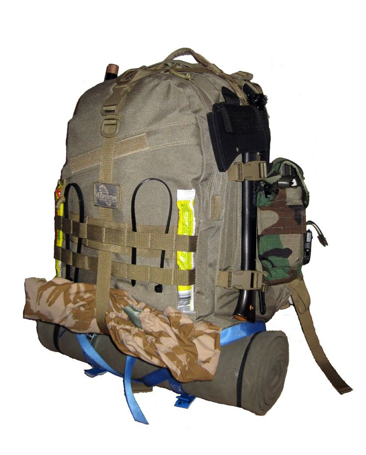"""The Ultimate Bug Out Kit We carry some really nice pre-made Bug out bags but we always get asked, """"What do I put in the best bug out bag? CLICK ON BACKPACK FOR INFORMATION."""