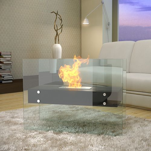 LINEAR Bio Ethanol Fireplace - Black