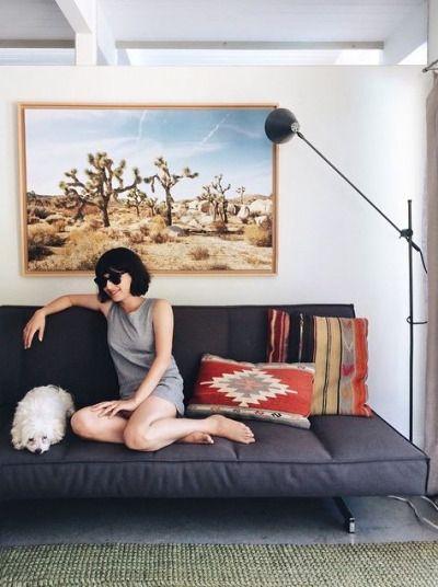living room decor | home decor ideas | interior design | neutral colors living room | wall art ideas | southwest style home | cactus | desert vibes