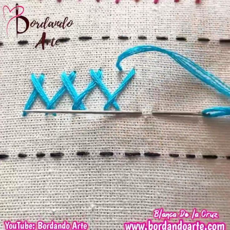 Mira el tutorial completo en mi canal de YouTube: Bordando Arte Hand Embroidery Patterns Flowers, Hand Embroidery Videos, Embroidery Stitches Tutorial, Hand Embroidery Flowers, Flower Embroidery Designs, Creative Embroidery, Simple Embroidery, Learn Embroidery, Sewing Stitches