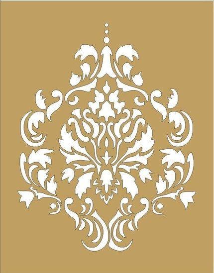 Damask5 Design Stencil 12x12 BEAUTIFUL by SuperiorStencils on Etsy, $18.95