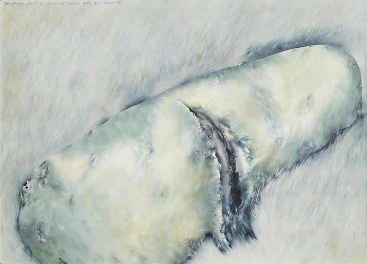 """Mattia Moreni """"Una grande ferita al fianco, o il principio della fine"""" 1974"""