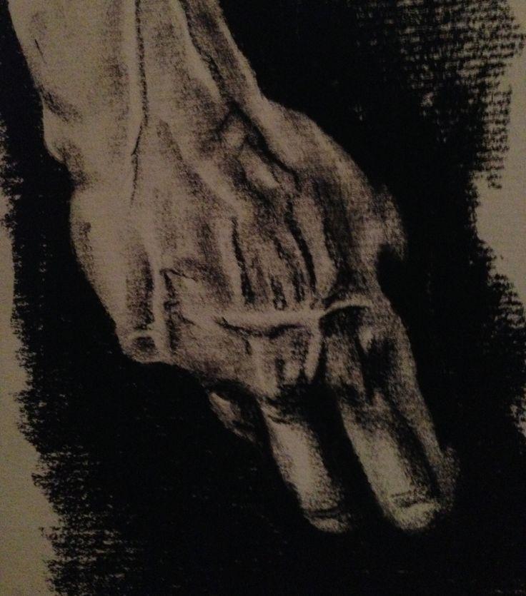 David's Hand - Charcoal