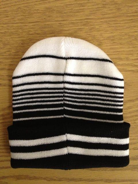Men's Wool Hat/Beanie (Black/White & Red/White)