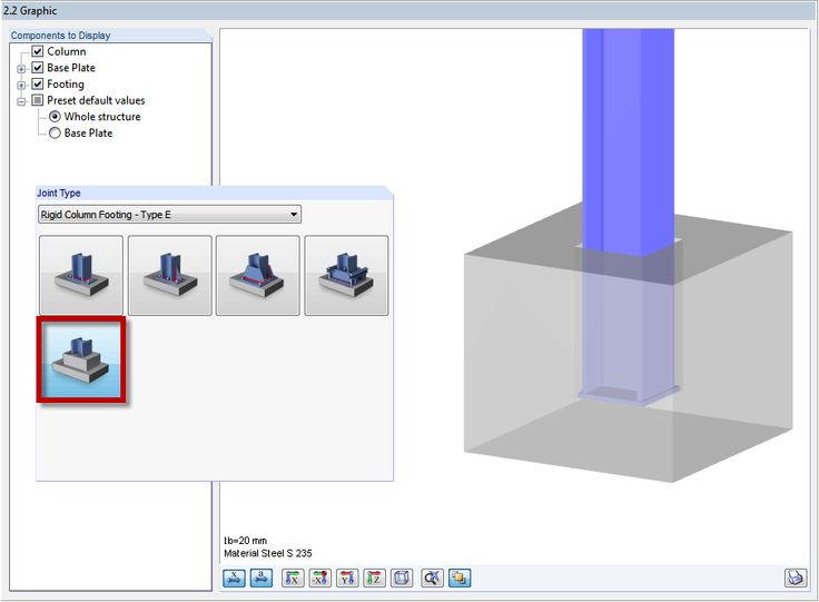 Dlubal RFEM 5 & RSTAB 8 - Designing Bucket Footing in RF-/JOINTS Steel - Column Base | www.dlubal.com | #bim #cad #dlubal #dynamics #eurocode #engineering #engineeringsoftware #fea #fem #rfem #rstab #structuralanalysis