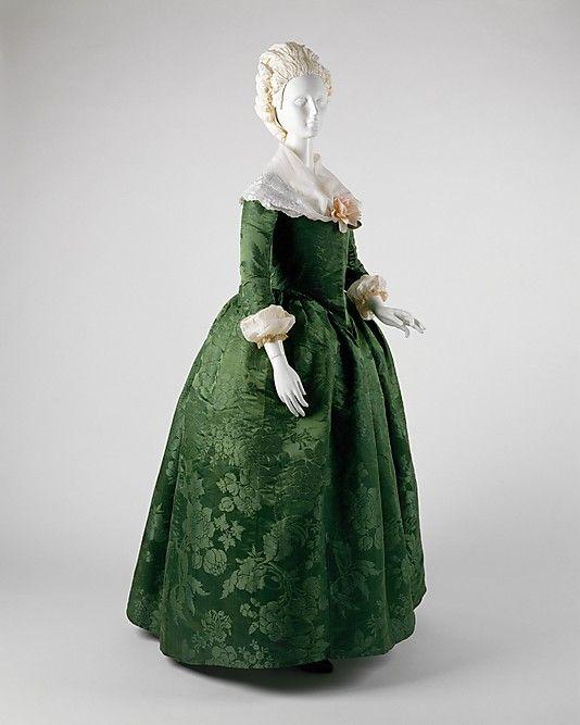 Ensemble, accessorized. ca. 1775   Culture: American   Medium: silk  Metropolitan Museum of Art