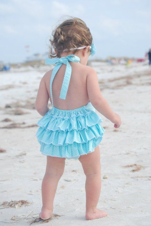 PDF Pattern for ruffled sun suit