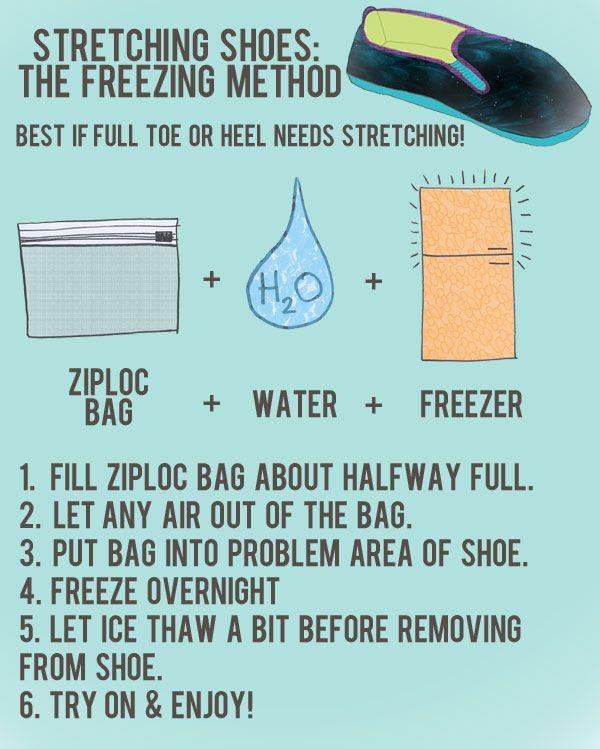 Shoe Care 101 - Stretching Shoes: The Freezing Method