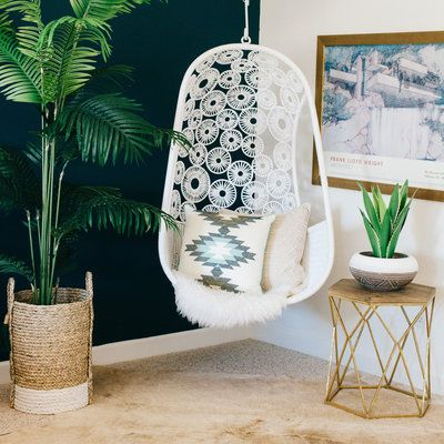 To accommodate both cost and space a dreamy hanging chair can act as a reading