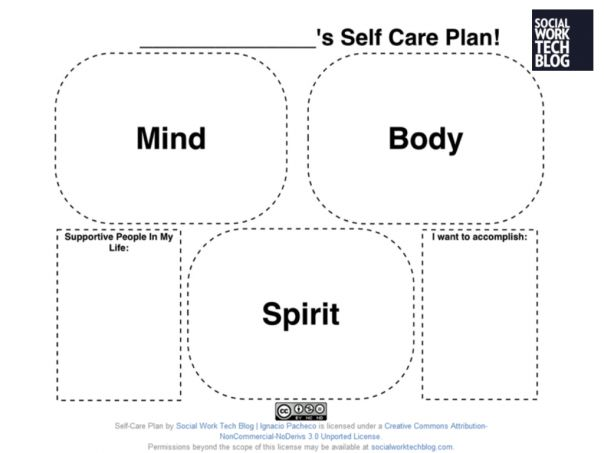 Printables Self Care Worksheets to be care plans and self on pinterest