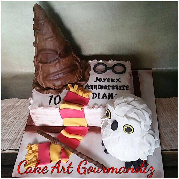 Gâteau d'anniversaire Harry Potter #harrypotter #harrypottercake #gateauharrypotter