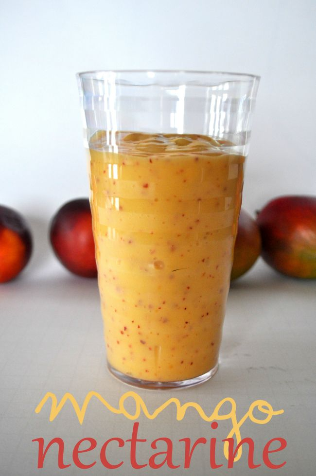 Mango nectarine smoothie! Healthy and delicious, and only takes 2 ...