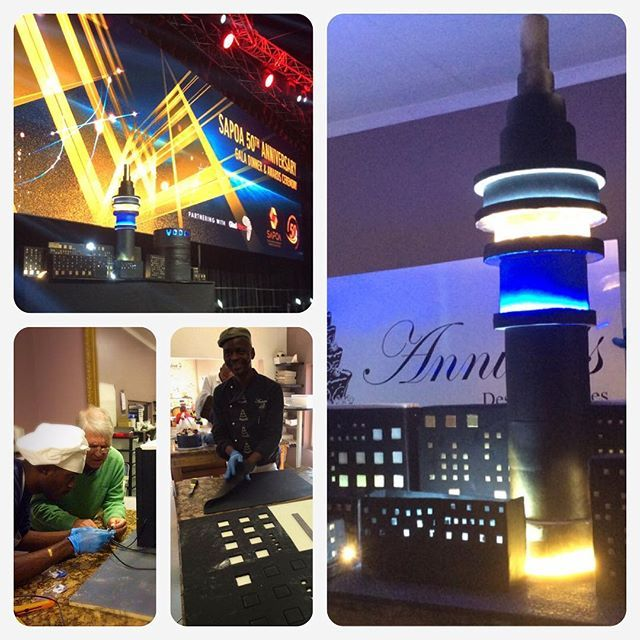 Many days & hours worthwhile. Feeling proud of our great team and the result of JHB Cityscape  3 meters cake for  SAPOA 50th celebration🎉🎂👍 #annicas #cakeprof #cakeart #instacake #cakessouthafrica #becakewise #sapoa