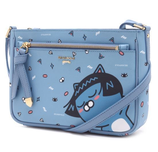 KAKAO Friends x Bean Pole Blue Cross Bag Miss A Suzy Limited Editio Neo Talk Cat #BeanPolexKAKAOFriends #TotesShoppers