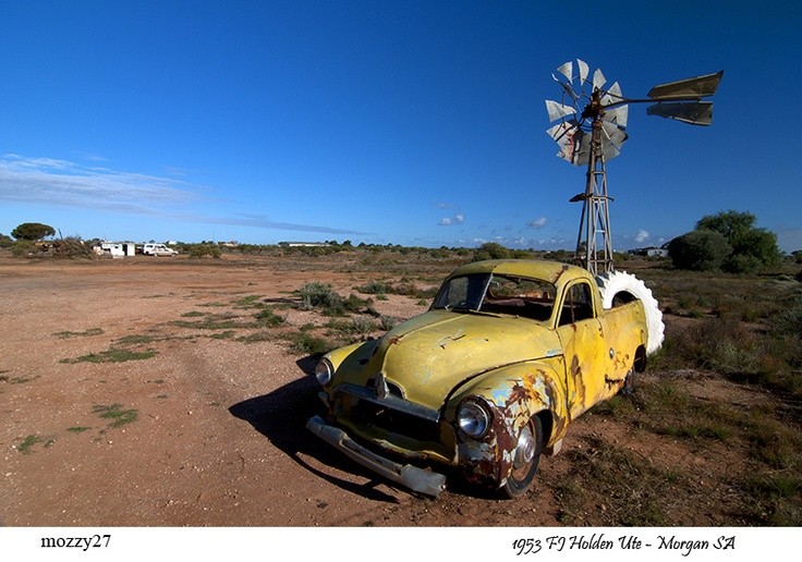 Two of Australia's most famous icons - Morgan, South Australia