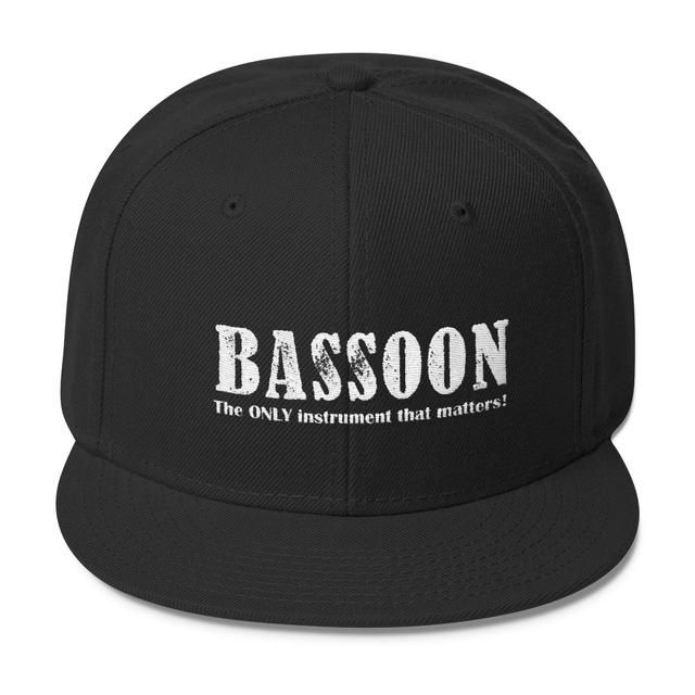 Grab them now! Bassoon, The Only Instrument That matters, Wool Blend Snapback caps on my Shopify store ✨ http://oompah.shop/products/bassoon-the-only-instrument-that-matters-wool-blend-snapback-caps