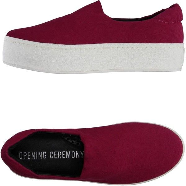 Opening Ceremony Low-tops & Trainers (1.660.010 IDR) ❤ liked on Polyvore featuring shoes, sneakers, mauve, mauve shoes, round toe shoes, opening ceremony, flatform shoes and low profile sneakers