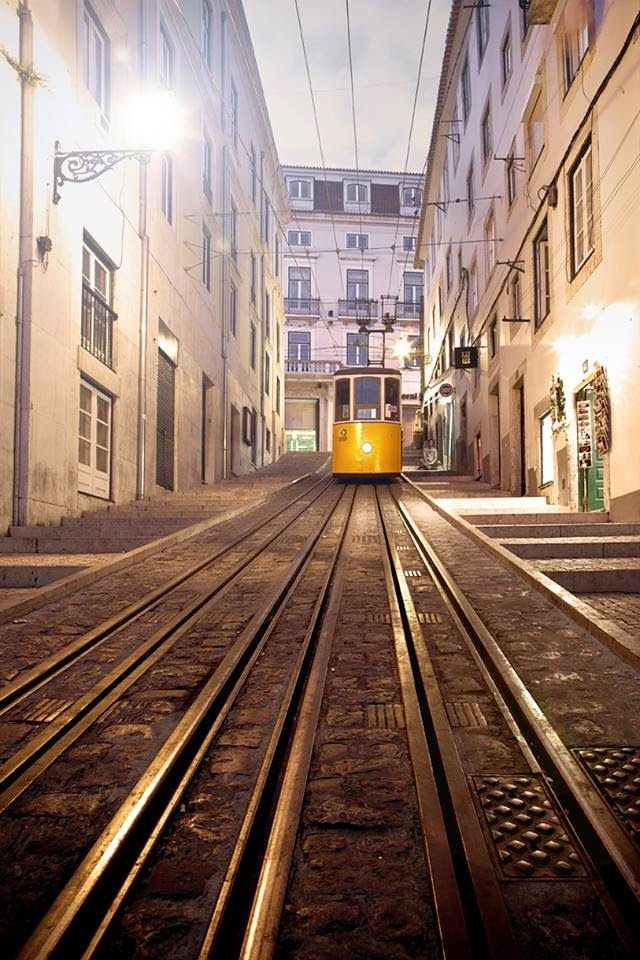 "Funicular ""Bica"", one of the many in Lisbon. the city of the 7 hills #Portugal"