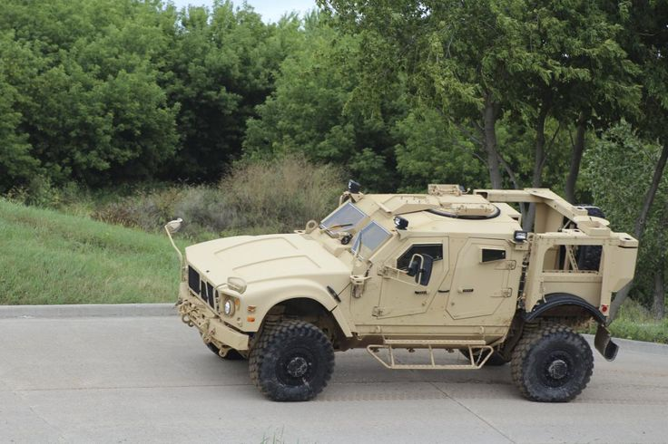 Oshkosh JLTV military vehicle is shown in Oshkosh, Wisconsin