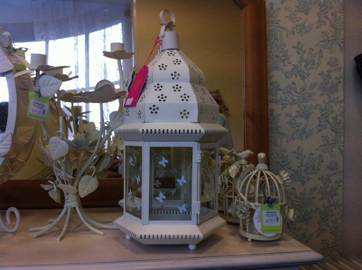 White butterfly lantern