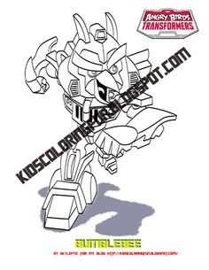 Angry Birds Transformer Bumblebee Coloring Page Pages Free
