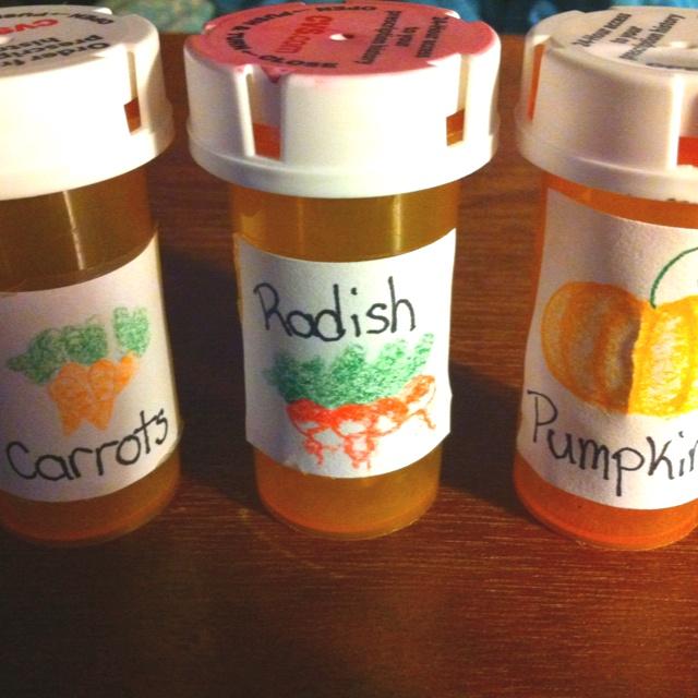Old prescription bottles for seeds