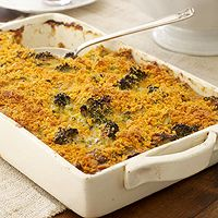 Julie Miltenberger's Broccoli Cheddar Casserole (via Parents.com)